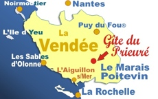 Carte de la Vendée