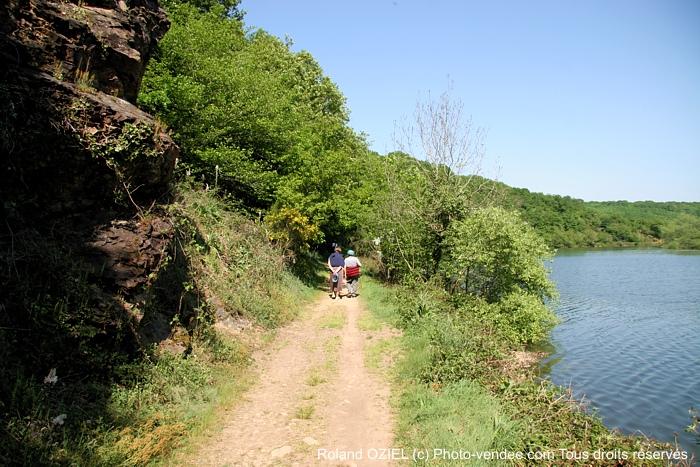 Sentier pédestre au bord du lac